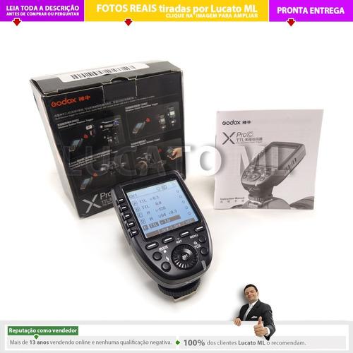 transmissor xproc radio flash godox canon ettl | nc
