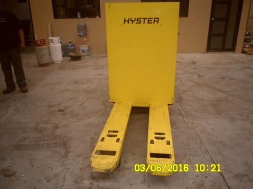 transpaleta electrica hyster 6000lb hombre a bordo 90 hr uso