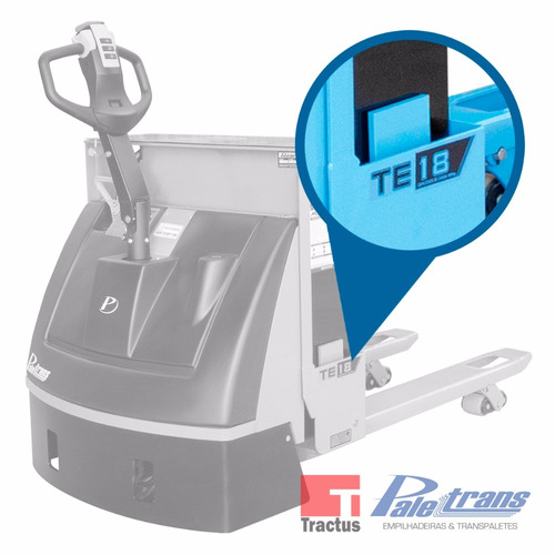 transpalete elétrico paletrans te18 - 1.800kg