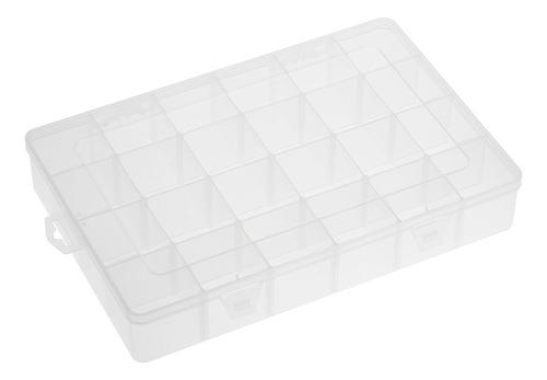 transparente grande 24 grades de armazenamento de plástico a