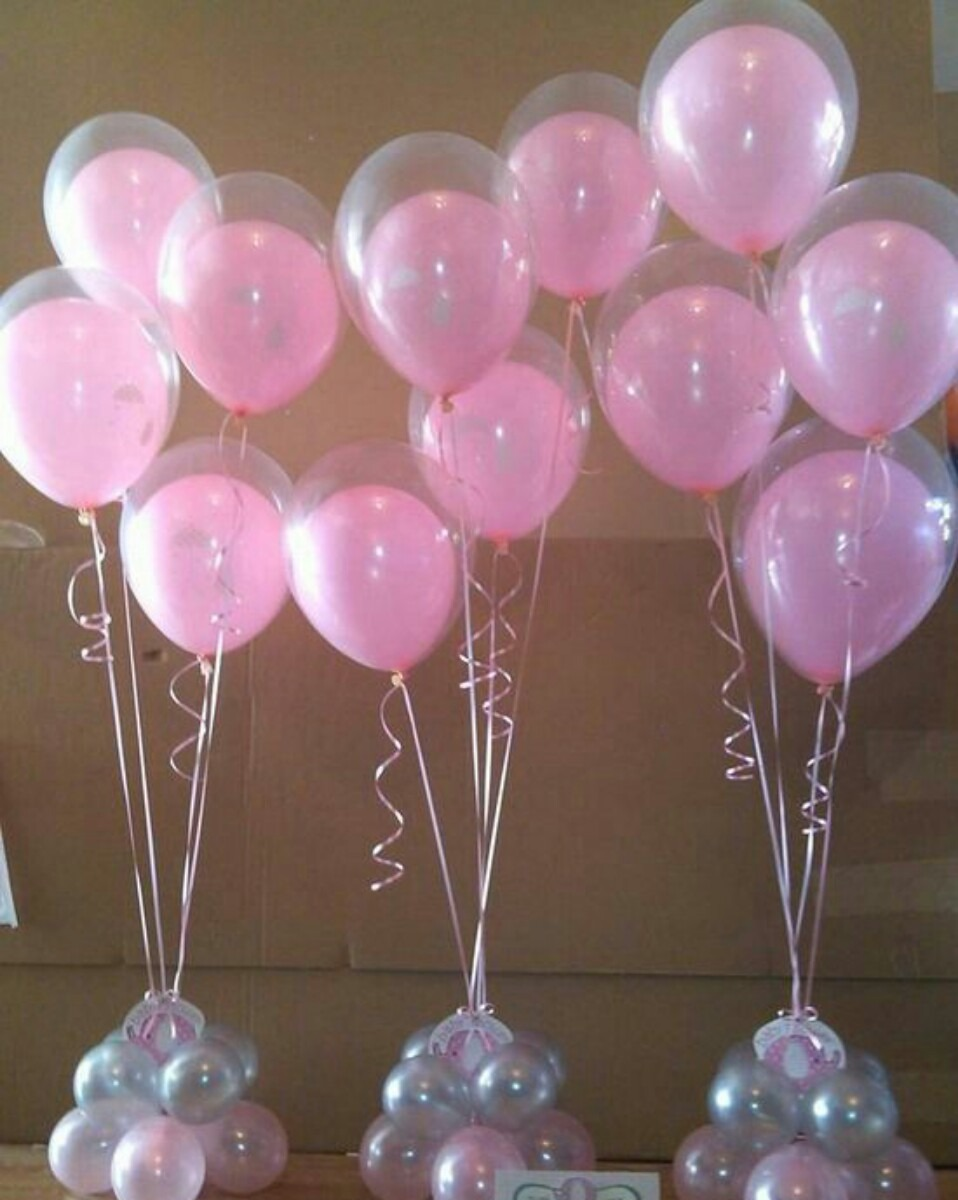 Transparentes globos baby love englobar amor 15 a os helio - Decoracion con globos 50 anos ...