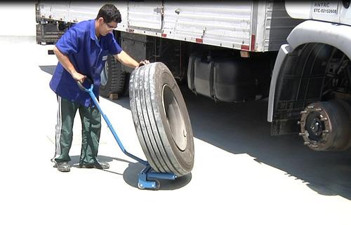 transportador e posicionador para pneus 250kg bovenau