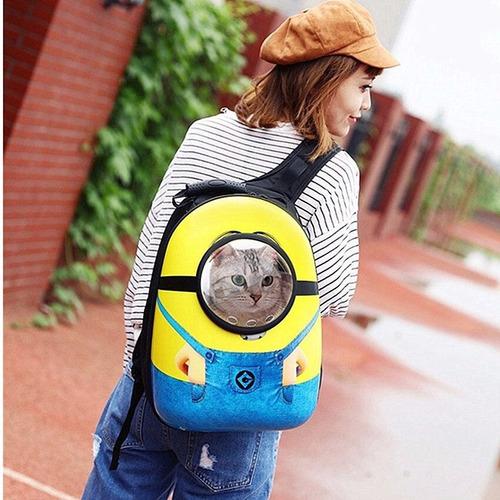 transportador espacial mochila para perro, gato, conejo