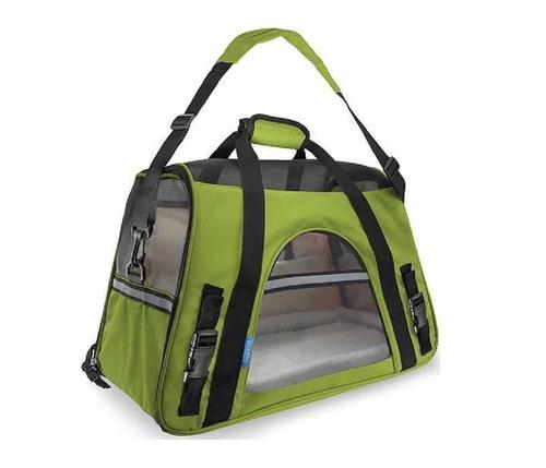 transportadora de mano maleta bolsa tela perro gato chico