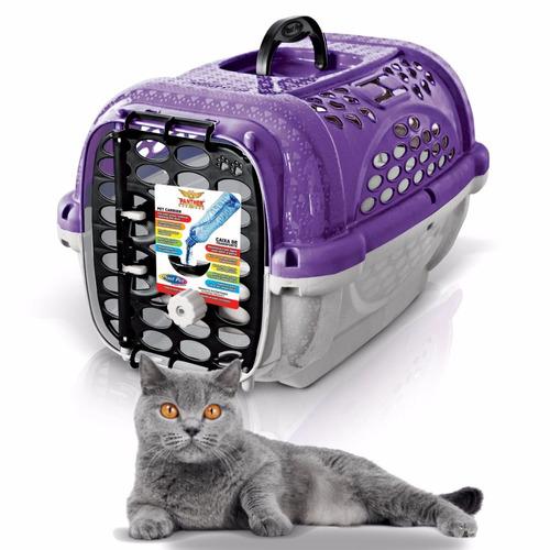 transportadora gato plast pet mini panther air no1 morada