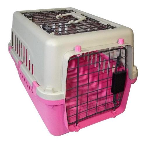 transportadora kennel perros y gatos 50x35x32cm 2 puertas