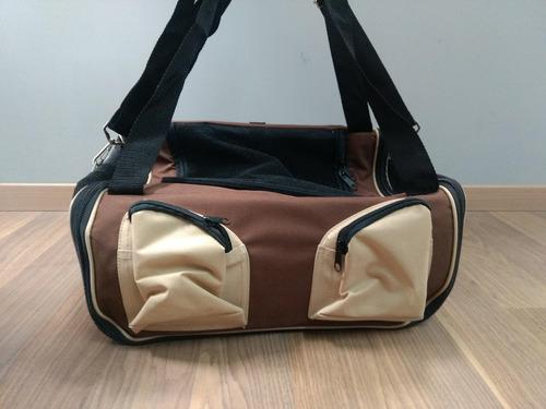 transportadora mochila para perro, gato mascota cafe