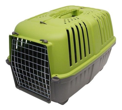 transportadora perro gato prátiko 2 puerta metal mp011402