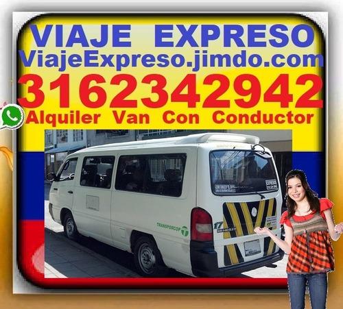 transporte 16 pasajeros, alquiler vans, van, con conductor,