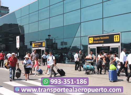 transporte al aeropuerto  y recojo del aeropuerto en lima