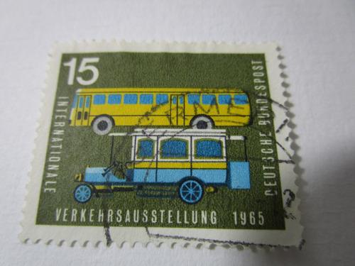 transporte bus 15 1965 deutsche estampilla antigua e3
