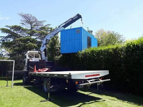 transporte containers 20p maquinas camion hidrogrua contened