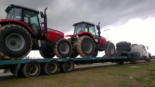 transporte de cargas sobre carretones