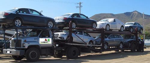 transporte de carros en niñeras
