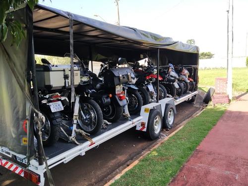 transporte de lancha e motos