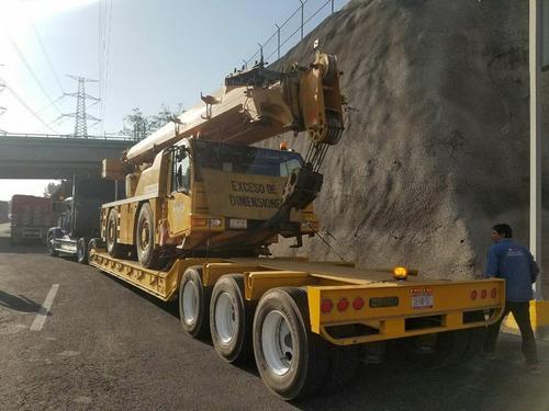 transporte de maquinaria pesada fletes sobre lowboy