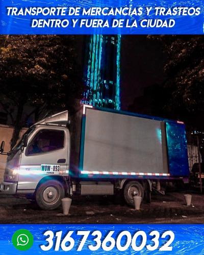 transporte de mercancías y trasteos en bogotá y alrededores