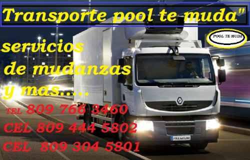 transporte de mudanzas pool te muda 809-766-3460