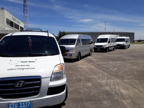transporte de pasajeros, vans, traslados aeropuerto, etc.