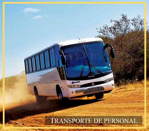 transporte de personal , minas , obras , alquiler de buses !