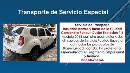 transporte de servicio especial