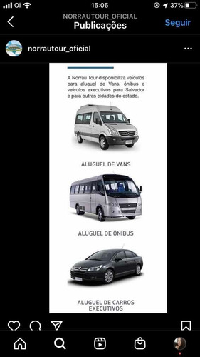 transporte empresarial e turismo