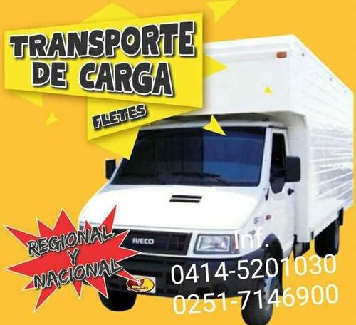 transporte / fletes / mudanzas. a nivel regional y nacional