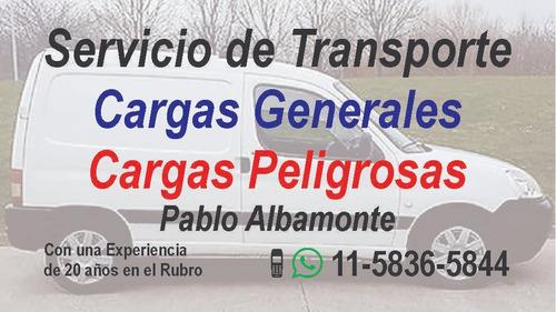 transportista de cargas generales/peligrosas