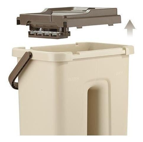 trapeador balde lavado a presion secado compresion descarga