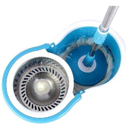trapeador giratorio 2 mopas lampazo balde centrifug rueditas