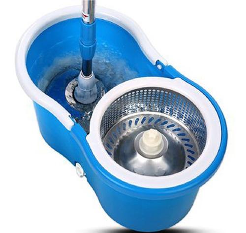 trapeador giratorio magic con ruedas + doble mopa