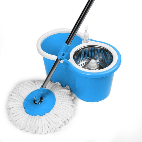 trapeador giratorio spin mop pro azul - tg3820