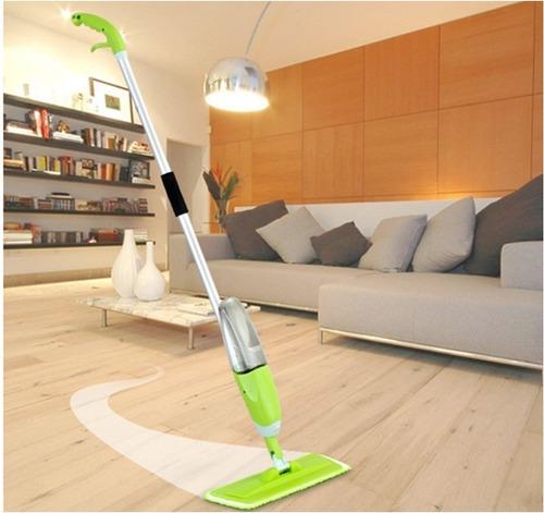 trapeador lampazo piso con rociador mopa gira a 360