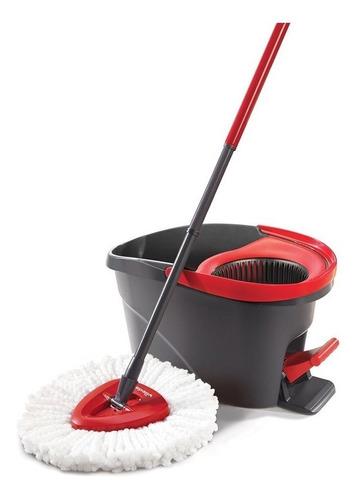 trapeador mop y cubo con pedal de vileda easy wring
