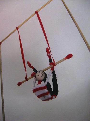 trapecista circo adorno para torta acrobatas telas