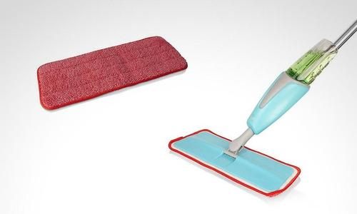 trapero en fibra para pisos laminados spray mop-tanque agua.