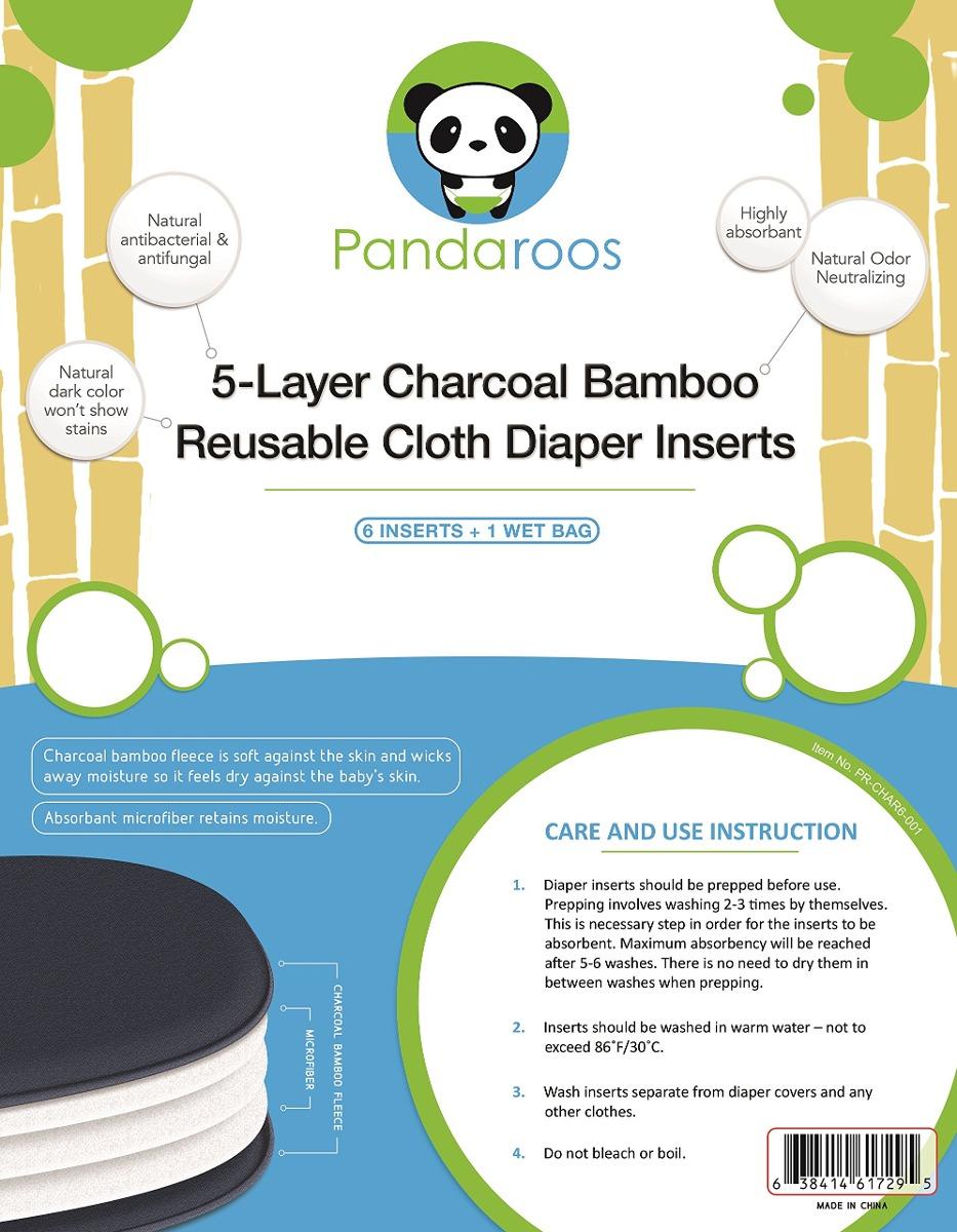 Trapos De Inserto De Pañal De Tela De Bambú De Pandaroos. - $ 57.450 ...
