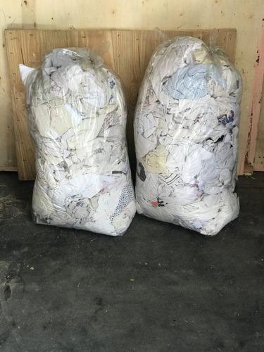 trapos limpieza industrial - camiseta blanca 100% algodón