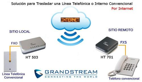 traslado lineas telefonicas o internos x voip, ht-503 ht-701