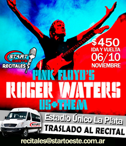 traslado transporte combis recital roger waters estadi unico