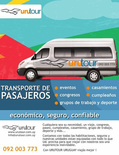 traslado, transporte de pasajeros camionetas turismo minibus