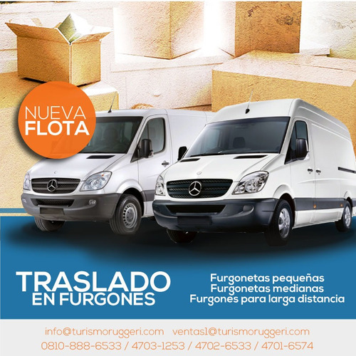 traslados y alquiler de furgones encomiendas fletes