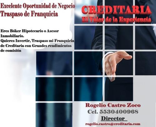 traspaso de franquicia creditaria para broker hipotecarios