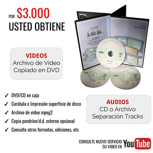 traspaso vhs hi8 betamax minidv 8mm video8 vhsc pal a cd dvd