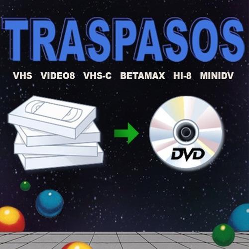 traspaso y restauración de vhs, hi8, minidv, betamax a dvd