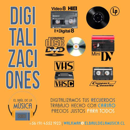 traspasos de cintas de audio video y vinilos