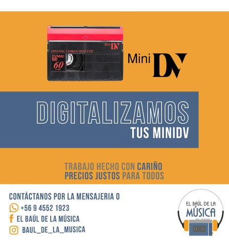 traspasos de cintas de audio video y vinilos
