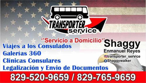 trasporte al consulado de madrugada desde santiago