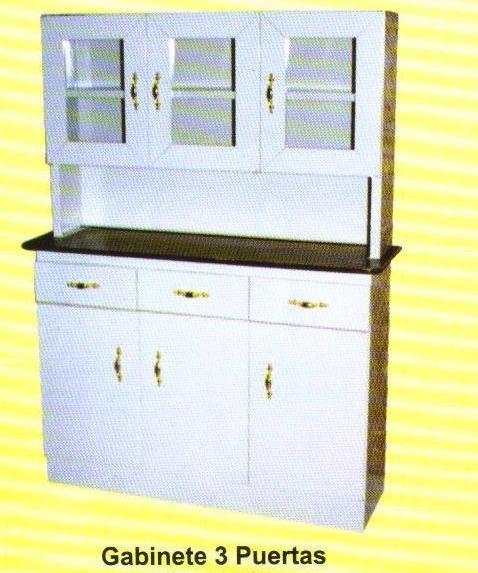 Trastero de cocina de tres puertas metalico 3 - Trasteros de madera para jardin ...