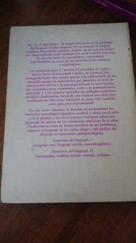 trastornos del lenguaje iii. jean a. rondal